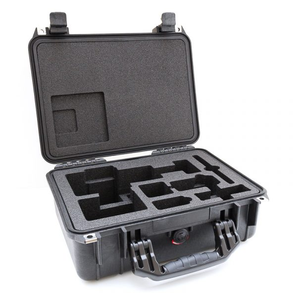 Lid open on peli case for iSTAR