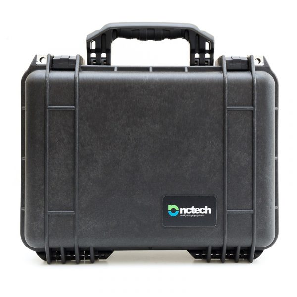frontal view of peli case